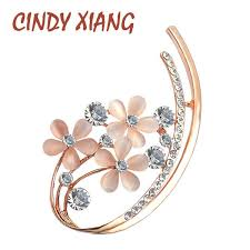 2019 <b>CINDY XIANG</b> Korean Style Opal Flower Brooches For ...