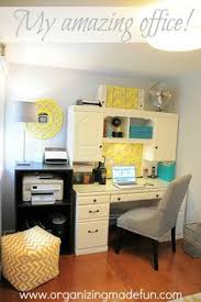 gorgeous gray and yellow home office with touches of turquoise organized and cheerful catch office space organized