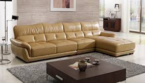 free shipping modern design sofa yellow top grain cattle leather solid wood frame durable a01 1 modern furniture wood design