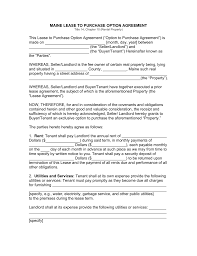 maine lease to own option to purchase agreement template maine lease to own option to purchase agreement template word pdf eforms fillable forms