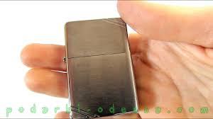 <b>Зажигалка Zippo</b> 230 <b>VINTAGE</b> BRUSHED CHROME (Видео обзор)