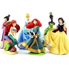 <b>6PCS</b> Disney Princess Mulan <b>Cinderella Belle</b> Figure Toy | Shopee ...