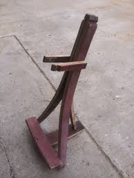 guitar stand made from red wine barrel staves authentic oak red wine