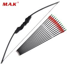 30/<b>40lbs Recurve Bow</b> with 12pcs Carbon Arrowss for Right Handed ...
