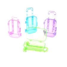 <b>1pc 3D</b> Travel Train Suitcase Luggage Plastic <b>Clear</b> Furniture Kids ...