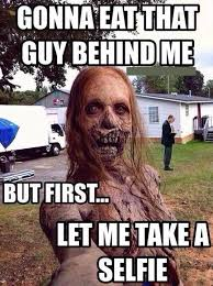 Funny Zombie Gonna eat that guy behind me but... via Relatably.com