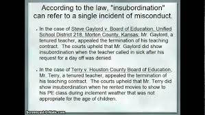 teacher insubordination teacher insubordination