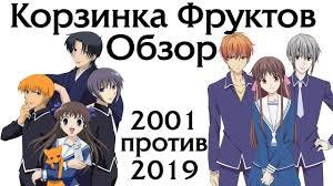 Обзор аниме <b>Корзинка Фруктов</b> 2019 vs 2001 Fruits Basket ...
