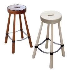 niko bar stool rustic folk leather seating by downtown antalyaa bar stool