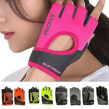 1Pair Women Gym <b>Half Finger Fitness</b> Anti-slip Resistance ...