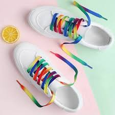 Useful <b>5Pairs Rainbow</b> Multi-Color Flat Sport Laces Sneaker ...