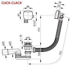 <b>Слив</b>-<b>перелив Click Clack</b> для <b>ванн</b> Ravak X01440 с заполнением ...