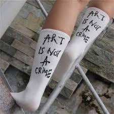 <b>Women Funny Halajuku humored</b> word printed socks Creative ...