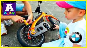 Детский велосипед БМВ BMW kidsbike Установка <b>педалей</b> на ...