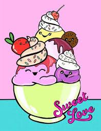 Sweet Love: Cute Ice Cream <b>Kawaii Notebook for Girls</b> or Tweens ...