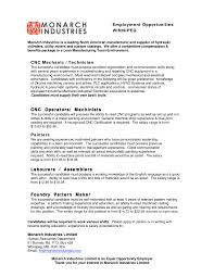 entry level machinist resume job resume samples entry level machinist resume