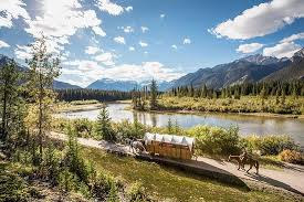 Covered Wagon or Horseback Ride in Banff with Western <b>Cookout</b>