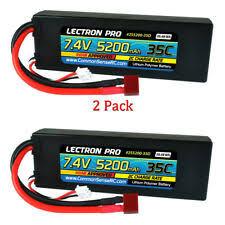 Lectron Pro <b>3S 11.1V</b> 50C <b>5200mAH</b> Lipo Battery w/ Deans ...