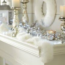 Frosted Noel: Silver <b>Christmas Decorations</b> | White <b>christmas decor</b> ...