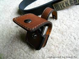 100% hand stitched handmade brown <b>cowhide leather</b> lighter ...