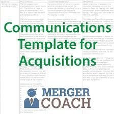 mergers and acquisitions project plan templates mergercoach 500x500 commuications template 01 acquisition project plan template