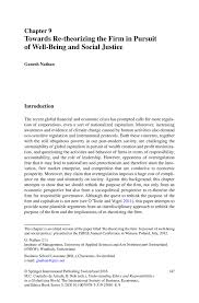 towards re theorizing the firm in pursuit of well being and social inside