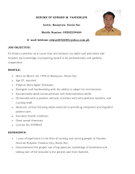 example of a nursing resume sample customer service resume example of a nursing resume sample nursing resume best sample resumes simple examples of resumes template
