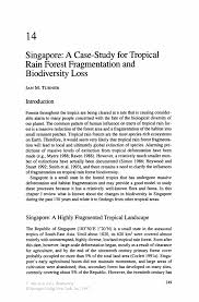 singapore a case study for tropical rain forest fragmentation and biodiversity biodiversity