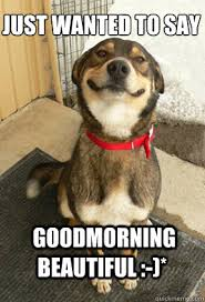 Just Wanted To Say Goodmorning Beautiful :-)* - Good Dog Greg ... via Relatably.com