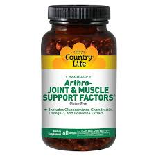 Country Life <b>Arthro</b>-<b>Joint</b> and <b>Muscle Support</b> Factors™ -- 60 Softgels
