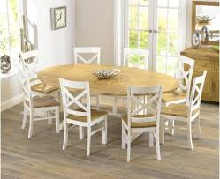 cream compact extending dining table: versatile extending dining table and chairs cavendish oak amp cream oval rectangular
