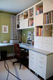 coolest desk lamp bright green office example of a trendy home office design in toronto built home office designs