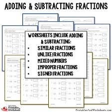 Adding and Subtracting Fractions Worksheets Bundle - Printables ...Adding and Subtracting Fractions Worksheets Bundle - Printables & Worksheets