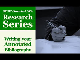 Writing an Annotated Bibliography for UWA Honours And Masters     YouTube Writing an Annotated Bibliography for UWA Honours And Masters Students