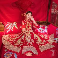 <b>New China</b> traditional Show dress evening clothes bridal <b>vintage</b> ...