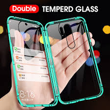 NEW   <b>Luxury</b> Double sided Tempered Glass <b>Magnetic</b> Phone Case ...