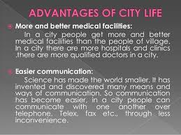 city life advantage and disadvantages