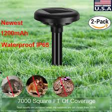 2x <b>Solar Power Ultrasonic Sonic</b> Mouse Gopher Mole Pest Rodent ...