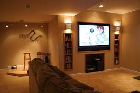 themed family rooms interior home theater: decorations small home theater design on with black leather sofa big also screen bookshelf unique