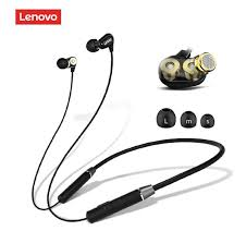 <b>Lenovo HE08 Wireless</b> Headphones Neck Hanging Handsfree ...