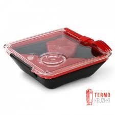 <b>Ланч бокс</b> квадратный <b>Box Appetit Black</b>+<b>Blum</b> Черный / Красный