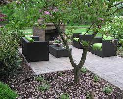 outdoor fireplace paver patio: coopersburg pa landscape project with paver patio outdoor fireplace and landscape plantings on rural estate
