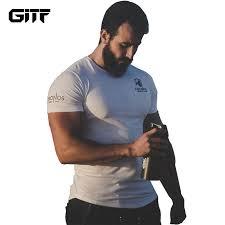 <b>GITF</b> Mens <b>Run Jogging</b> Sports <b>Cotton</b> T shirt Man Gym Fitness ...