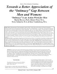 """Intimacy"" Gap Between Men and <b>Women</b>: ""Intimacy"""