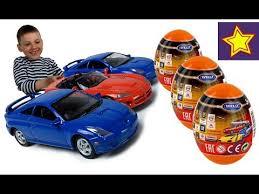 <b>Машинки Welly</b> Сюрпризы в яйцах Распаковка яиц с игрушками ...