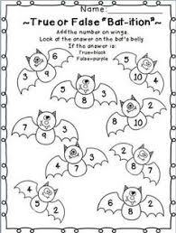 Halloween math, Number activities and Color by numbers on Pinterest