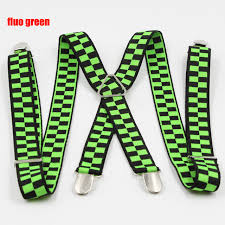 Fashion Plaid <b>Suspenders</b> 8 colors <b>4 clips Men's suspenders</b> 2.5 cm ...