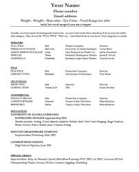 actor resume template doc mittnastaliv tk actor resume template
