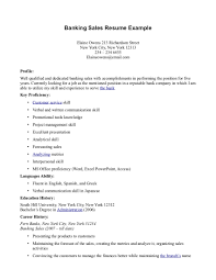personal banker resume sample experience cipanewsletter banking resume for mba s banking lewesmr