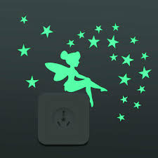 <b>New 3D Luminous</b> blue <b>light</b> Cartoon Switch Sticker Fluorescent ...